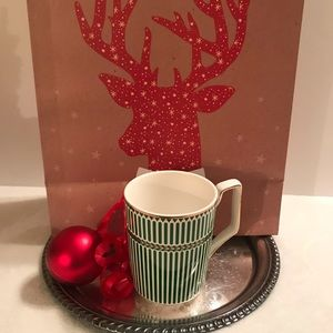 Grace's Teaware Green & White with Gold Coffee Mug